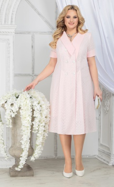 Dress Ninele 5824 pudr + pudr