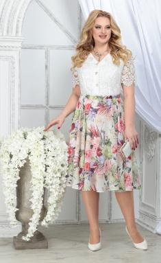 Dress Ninele 5833 zelenye rozy