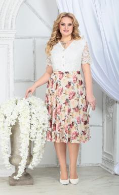 Dress Ninele 5833 zheltye rozy