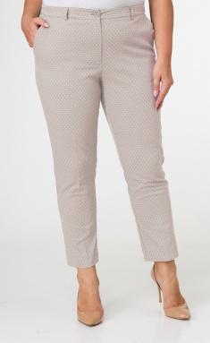 Trousers BelElStyle 586 bezh v belyj gorox