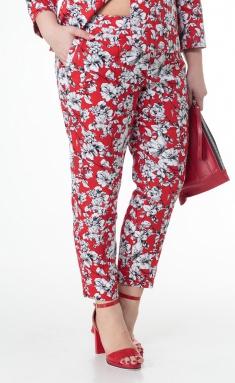 Trousers BelElStyle 586 krasnyj+belyj