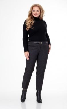 Trousers BelElStyle 586/1 sero-chernye