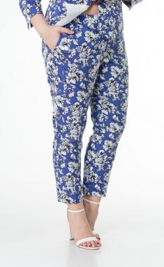 Trousers BelElStyle 586 sinij+belyj