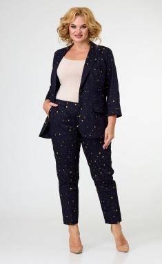 Trousers BelElStyle 586 sinij+gorchica