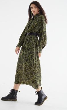 Dress MALI 421-092 zebra zelenyj