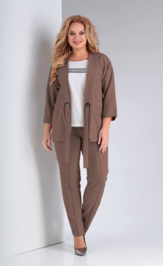 Suit Vilena-fashion 625 shokolad