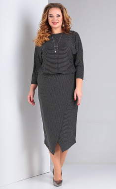 Dress Vasalale 00658 chern s serym