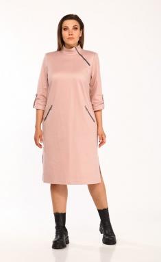 Dress Vilena-fashion 663 pudra