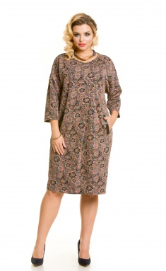 Dress NOVITA 693 cv melanzh