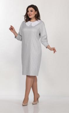 Dress Vilena-fashion 703 bel+ser