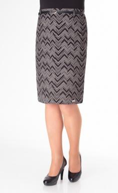 Skirt Elite Moda 3190 cherno-belyj