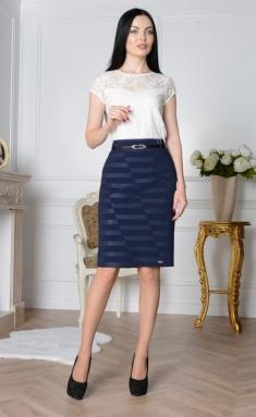 Skirt Elite Moda 3408 sinij