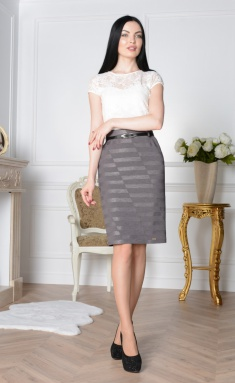 Skirt Elite Moda 3408 seryj