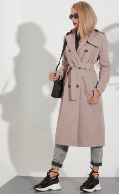 Coat Golden Valley 7105 temnyj bezh