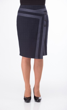 Skirt Elite Moda 3478 sine-chernyj