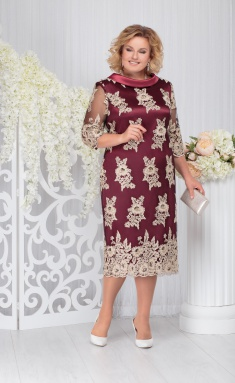Dress Ninele 7249 chern + bord