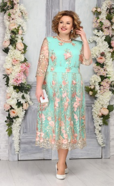 Dress Ninele 7275 pudr + svetlo-zel
