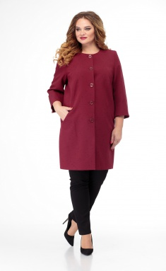 Coat BelElStyle 727 bordo