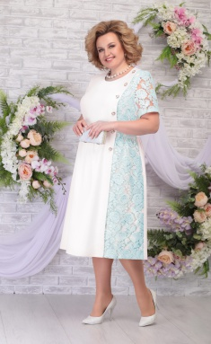 Dress Ninele 7285 moloko + svetlo-zel