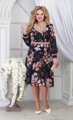 Dress Ninele 7312 pudr + cv
