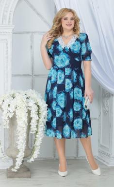 Dress Ninele 7318 biryuzovye rozy