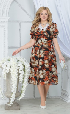Dress Ninele 7318 krasnye romashki