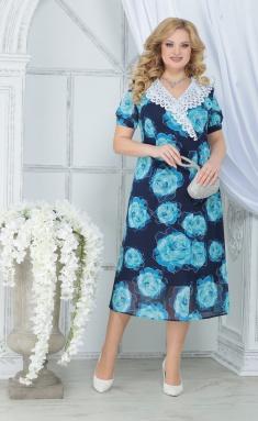 Dress Ninele 7319 biryuzovye rozy