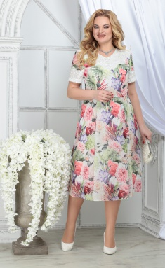 Dress Ninele 7322 zelenye rozy
