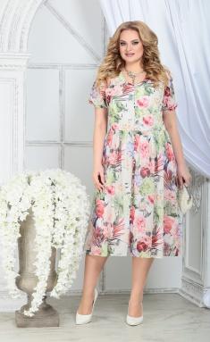 Dress Ninele 7325 zelenye rozy