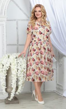 Dress Ninele 7325 zheltye rozy