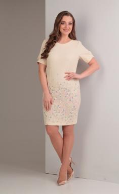 Dress TVIN 7423-1 s gorizontalno raspolozhennym dizajnom