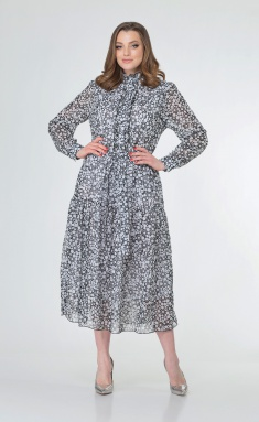 Dress Anastasia MAK 785.1 cherno-bel