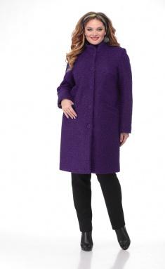Coat BelElStyle 786 baklazhan