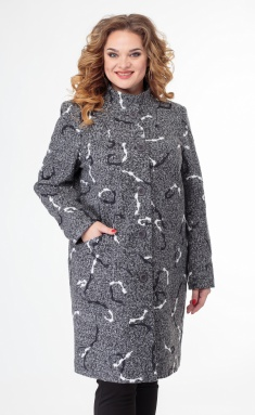 Coat BelElStyle 786 sero-belyj