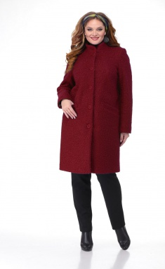 Coat BelElStyle 786 bordo