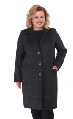 Coat BelElStyle 789 kletka chernaya