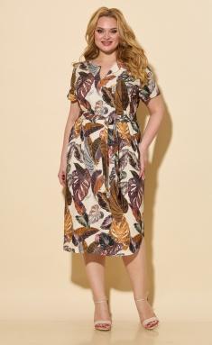 Dress BelElStyle 834 korichnevyj dizajn