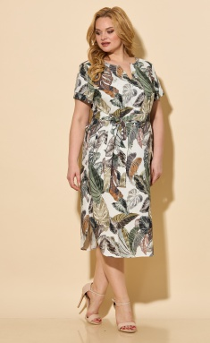 Dress BelElStyle 834 oliva dizajn