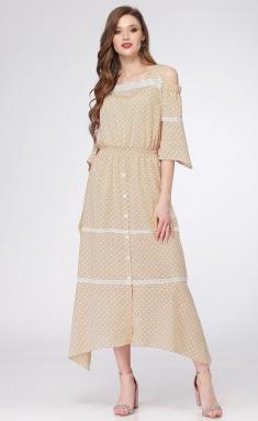 Dress Ladis Line 941 bezh