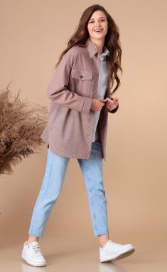 Outwear Linia L A-1888 rozovo-korichnevyj