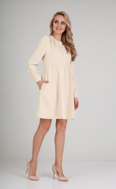 Dress Andrea Fashion AF-117 krem