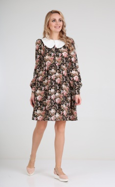 Dress Andrea Fashion AF-121 cvety