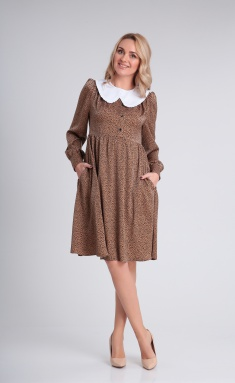 Dress Andrea Fashion AF-121 karamel