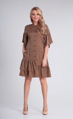 Dress Andrea Fashion AF-122 karamel