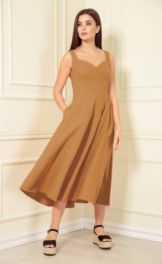 Dress Andrea Fashion AF-139 karamel
