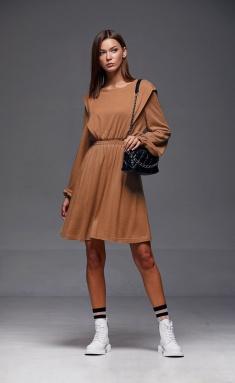 Dress Andrea Fashion AF-186 kamel