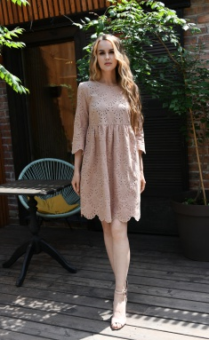 Dress Andrea Fashion AF-19 bezh dizajn 3