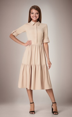 Dress Andrea Fashion AF-31 bezh