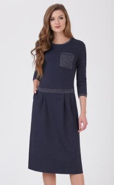 Dress Linia L B-1692 temno-sin