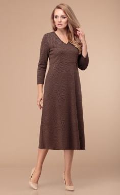 Dress Linia L B-1763 korichnevyj